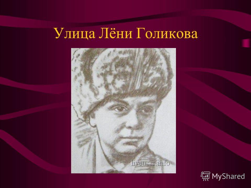Улица Лёни Голикова