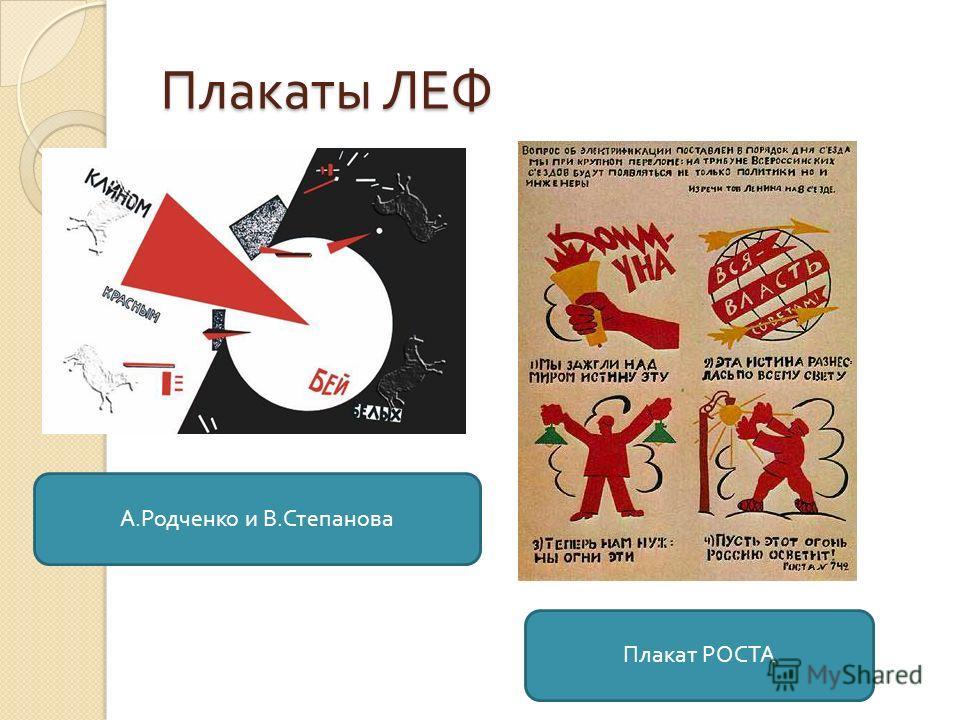 Плакаты ЛЕФ А. Родченко и В. Степанова Плакат РОСТА
