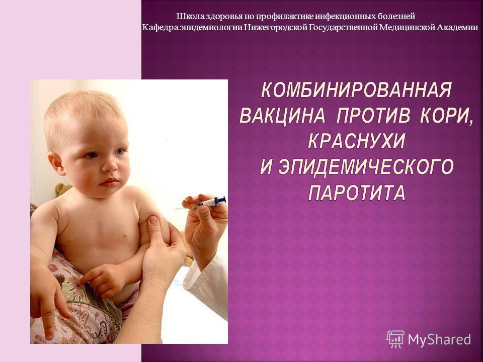 Школа здоровья по профилактике инфекционных болезней Кафедра эпидемиологии Нижегородской Государственной Медицинской Академии