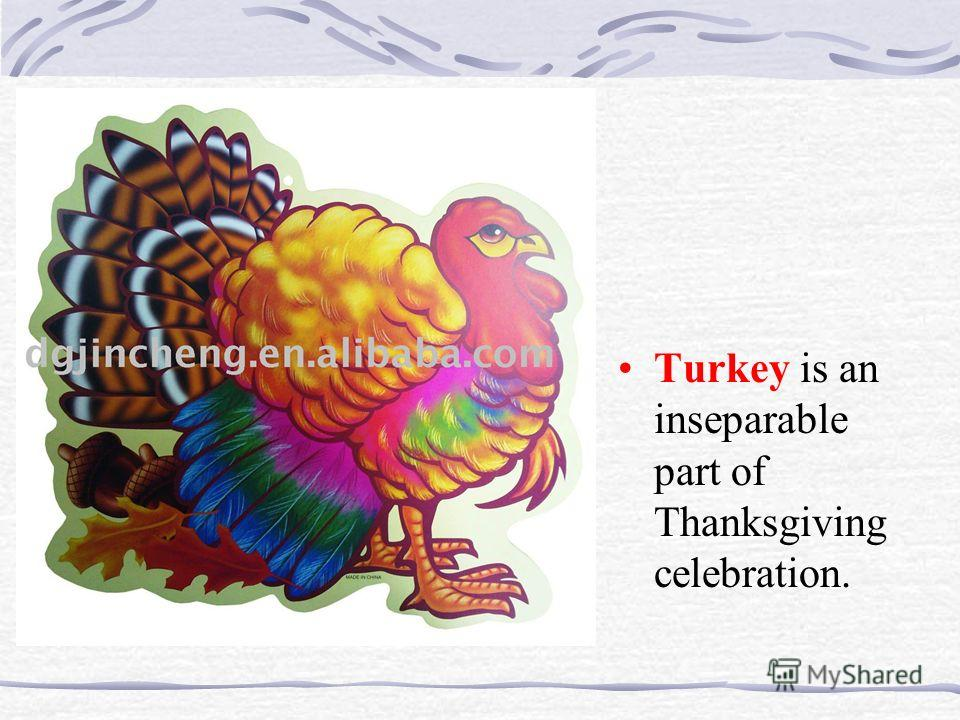 Turkey is an inseparable part of Thanksgiving celebration.