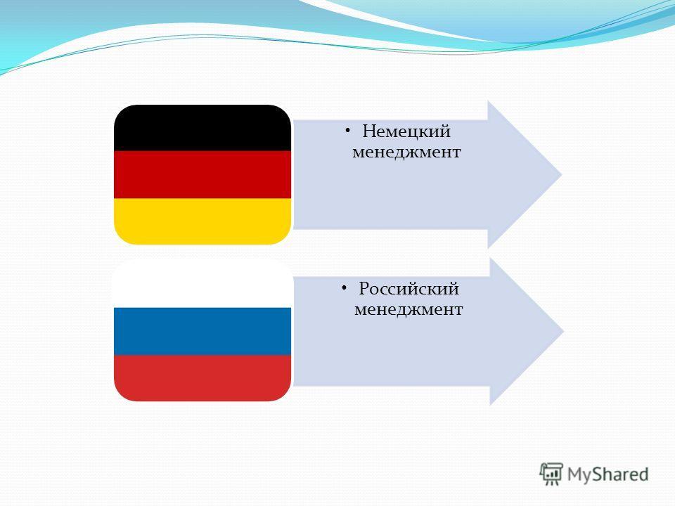Немецкий менеджмент Российский менеджмент