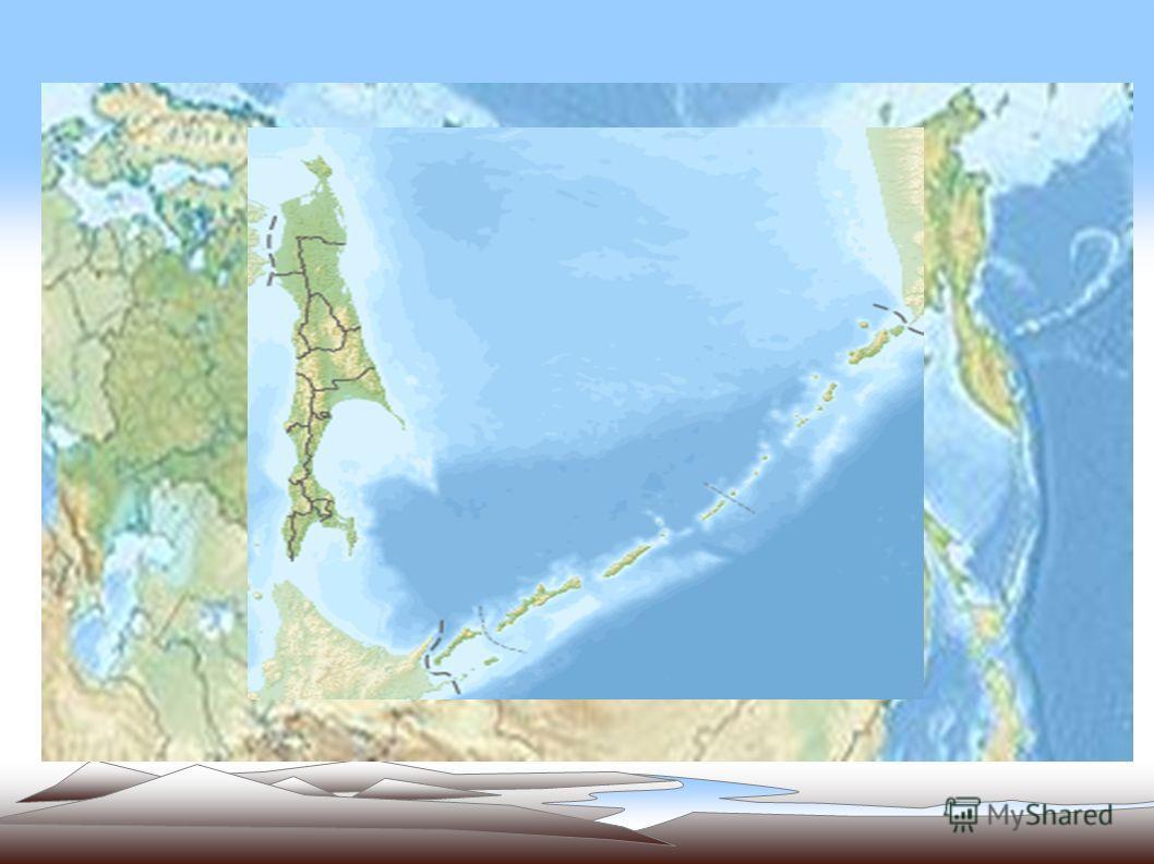 Сахалин самый большой остров России. Омывается Охотским и Японским морями.