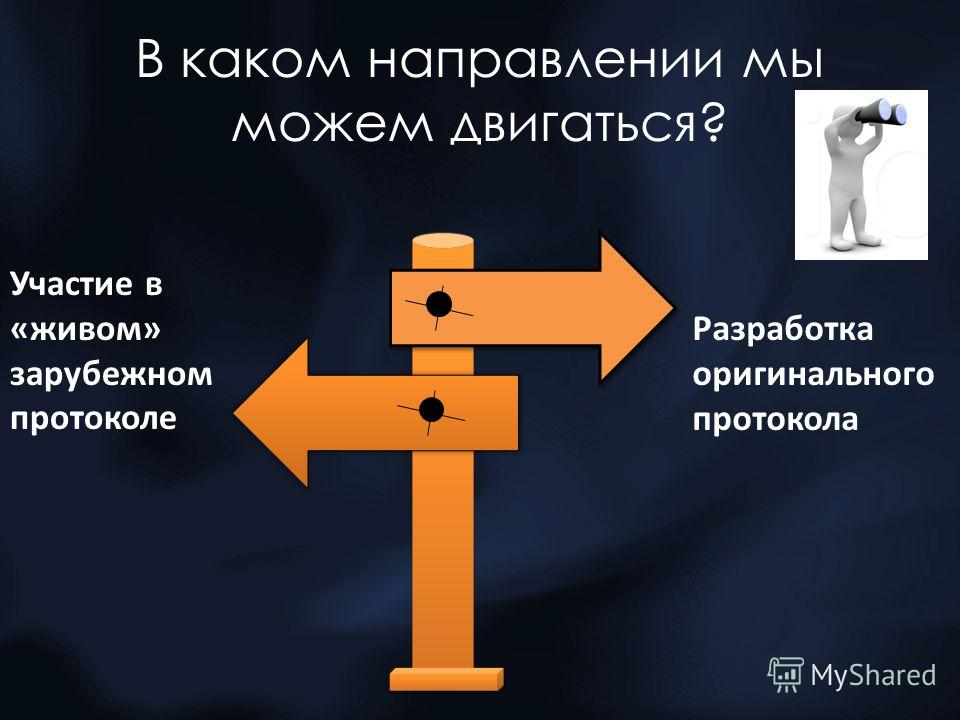 В каком направлении мы можем двигаться? Участие в «живом» зарубежном протоколе Разработка оригинального протокола