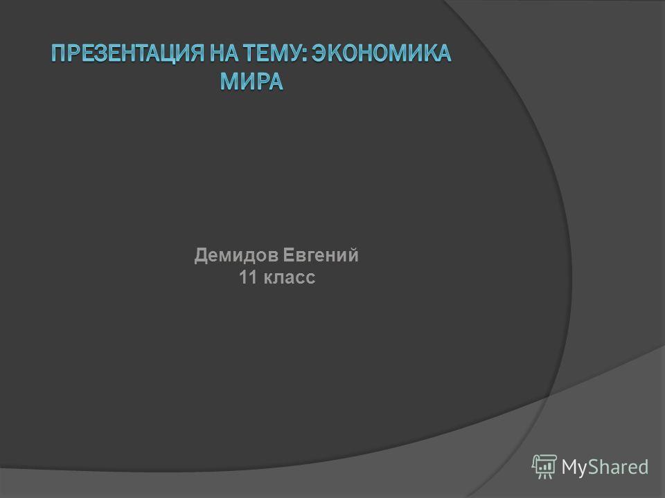 Демидов Евгений 11 класс