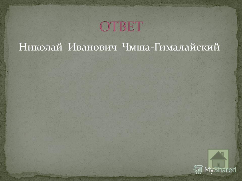 Николай Иванович Чмша-Гималайский