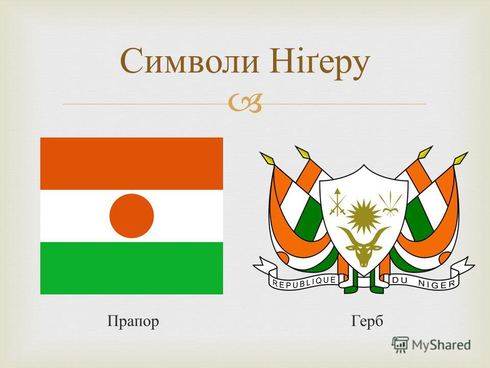 Прапор Герб Символи Ніґеру
