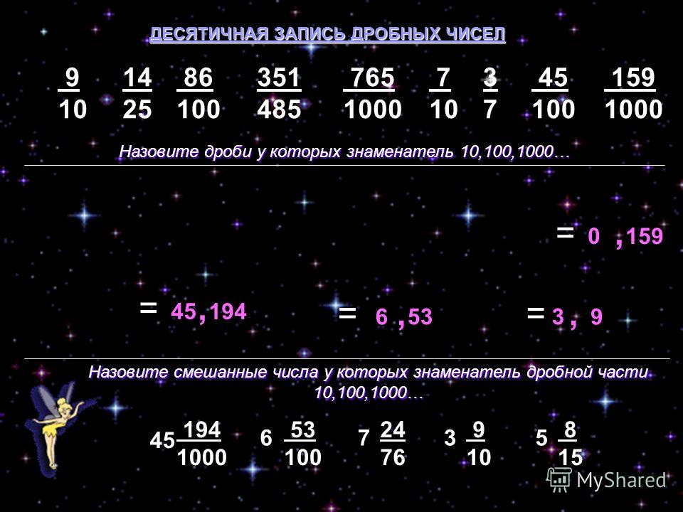 Что такое десятичная запись числа