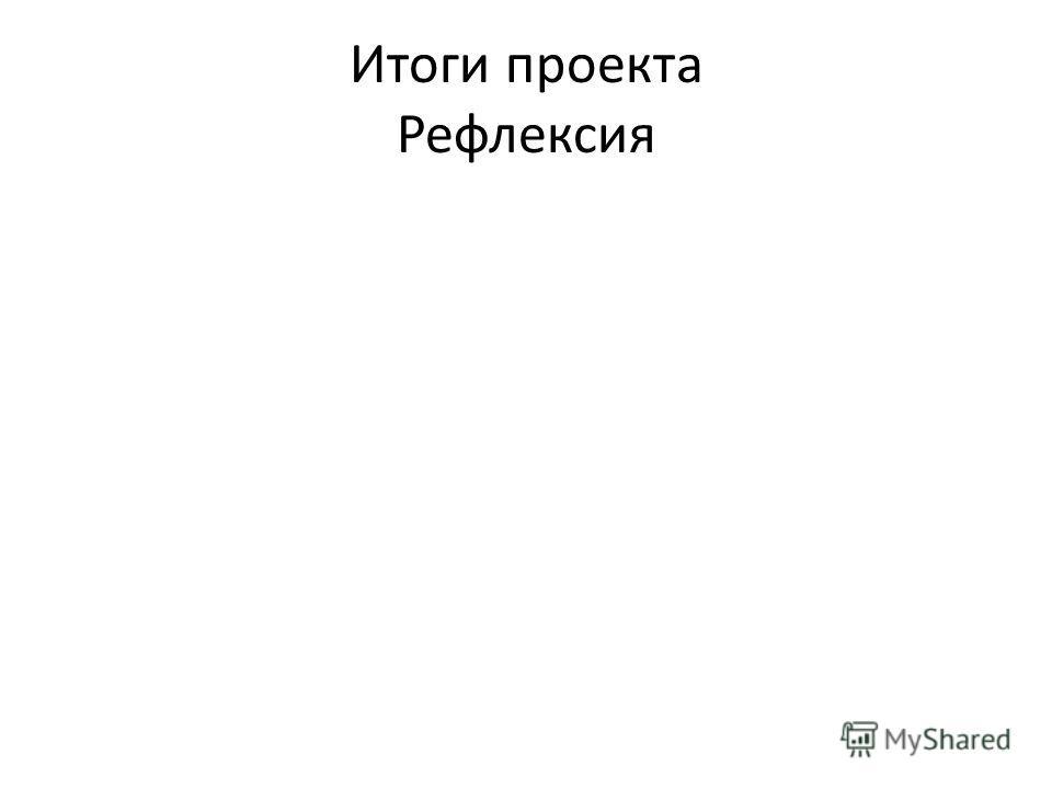 Итоги проекта Рефлексия