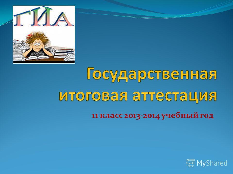 11 класс 2013-2014 учебный год