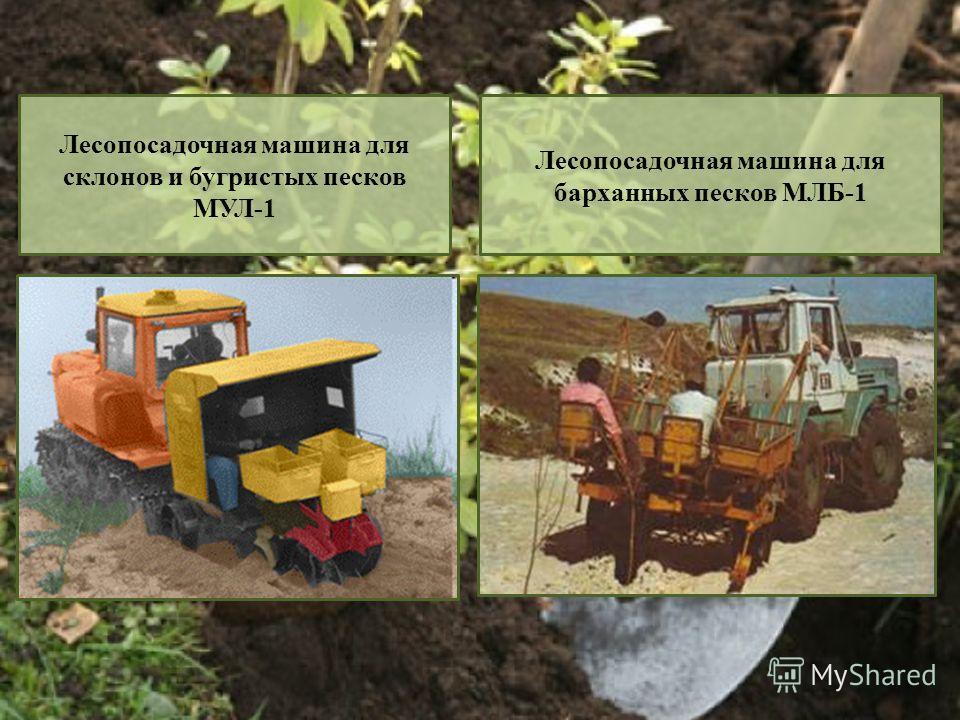 Лесопосадочная машина для склонов и бугристых песков МУЛ-1 Лесопосадочная машина для барханных песков МЛБ-1