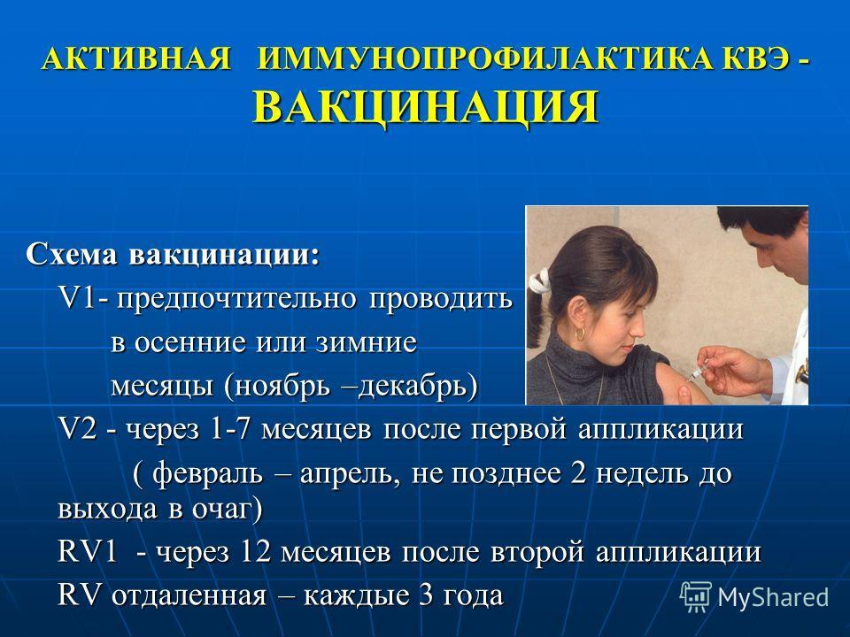 Схема вакцинации: V1-