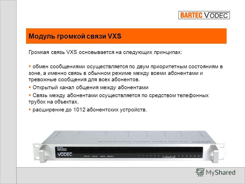 Громкая связь VXS