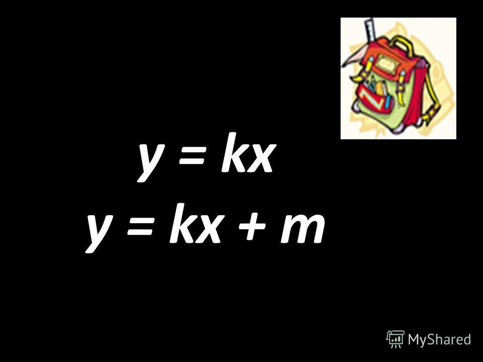 y = kx y = kx + m