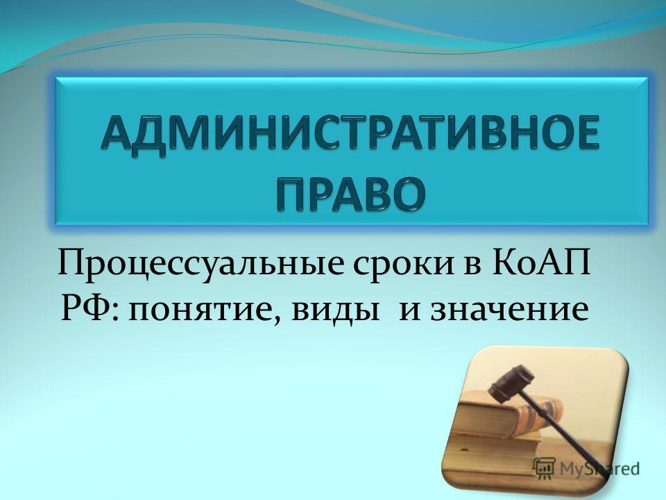 Процессуальные сроки в КоАП РФ: понятие, виды и значение