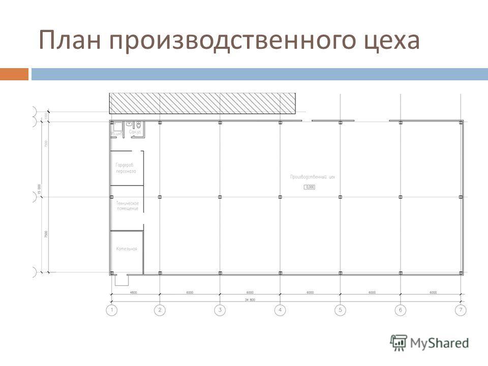 План производственного цеха