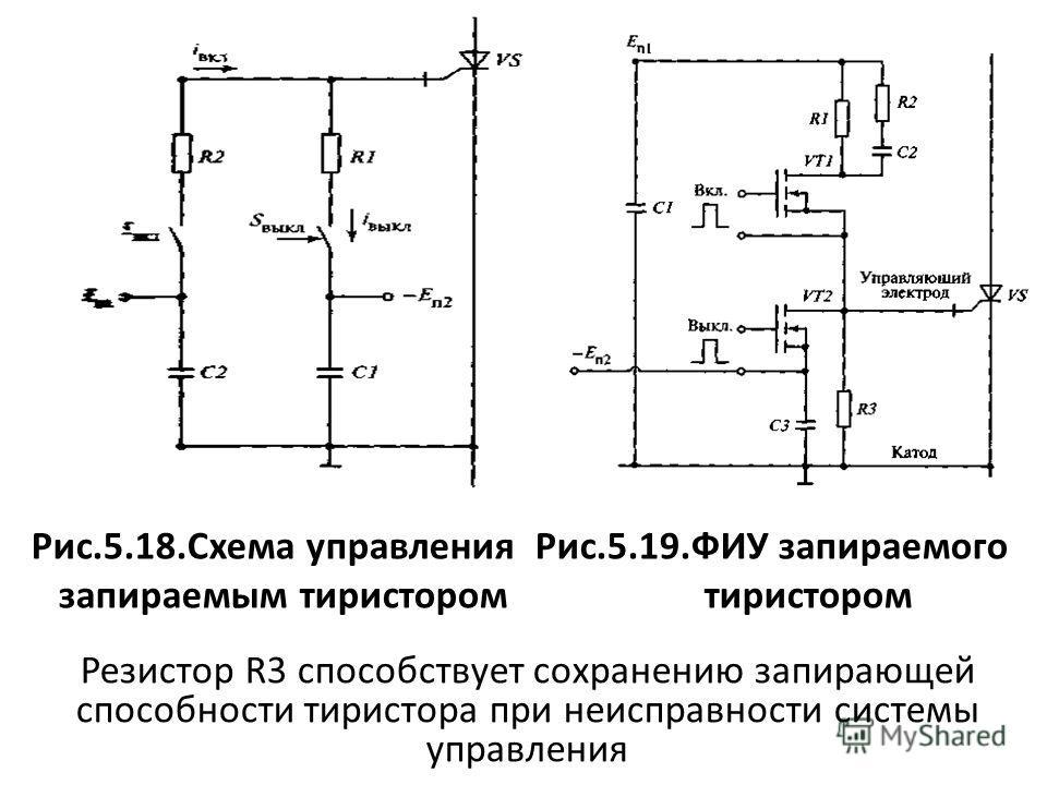Блок схема управления тиристорами