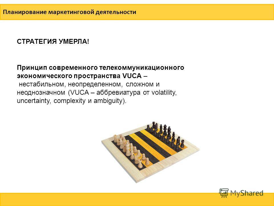 Смоленская область, справка о регионе Планирование маркетинговой деятельности Принцип современного телекоммуникационного экономического пространства VUCA – нестабильном, неопределенном, сложном и неоднозначном (VUCA – аббревиатура от volatility, unce
