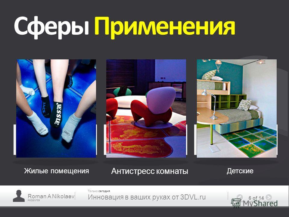 PRESENTER 6 of 14 Сферы Применения Жилые помещения Антистресс комнаты Детские Roman A Nikolaev Только сегодня Инновация в ваших руках от 3DVL.ru