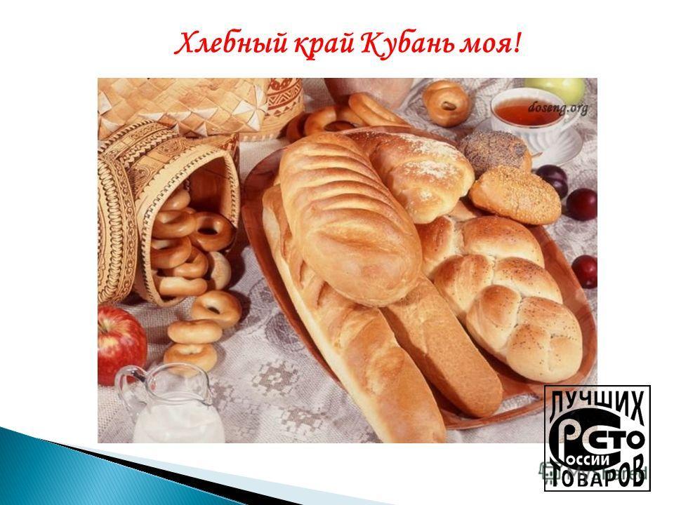 Хлебный край Кубань моя!