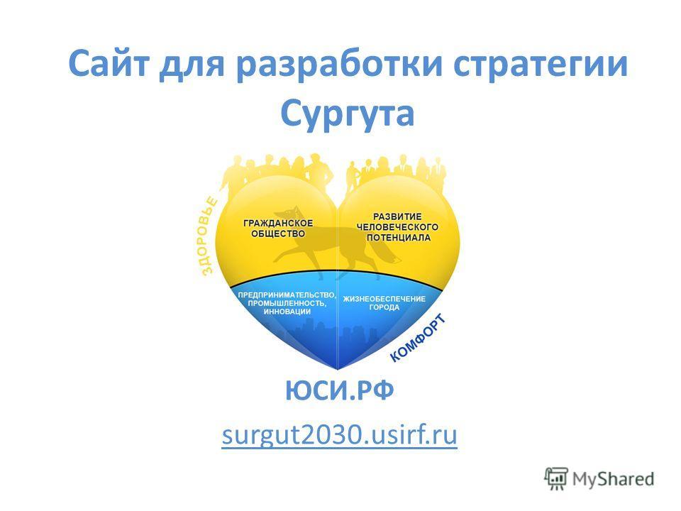 Сайт для разработки стратегии Сургута ЮСИ.РФ surgut2030.usirf.ru