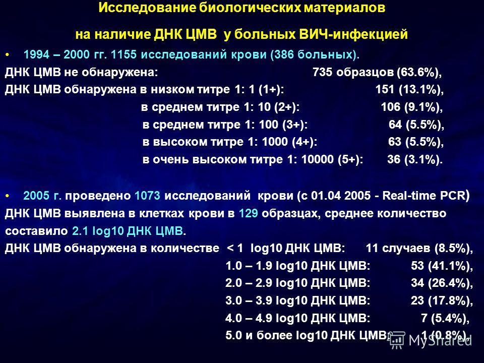 ДНК ЦМВ не обнаружена: 735