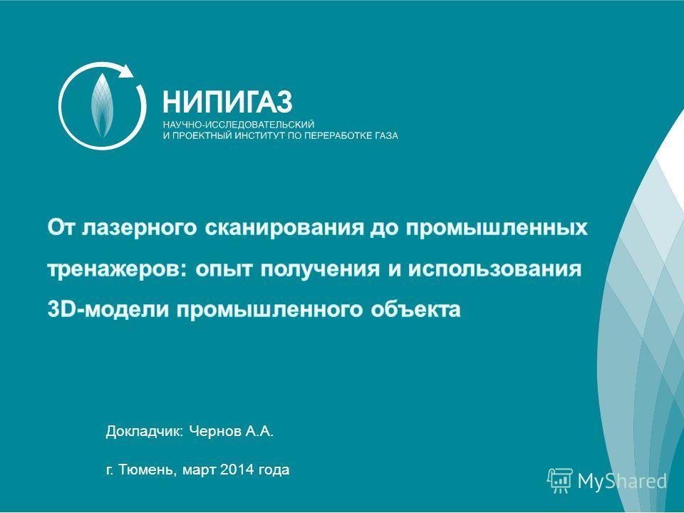 Докладчик: Чернов А.А. г. Тюмень, март 2014 года