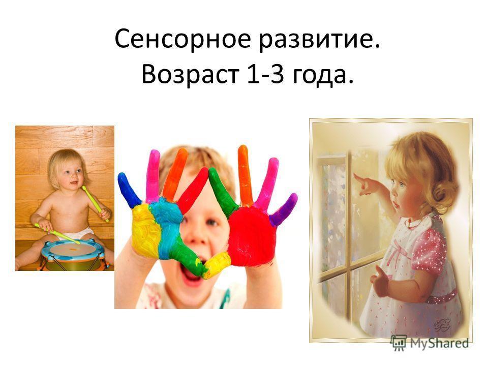 Сенсорное развитие. Возраст 1-3 года.