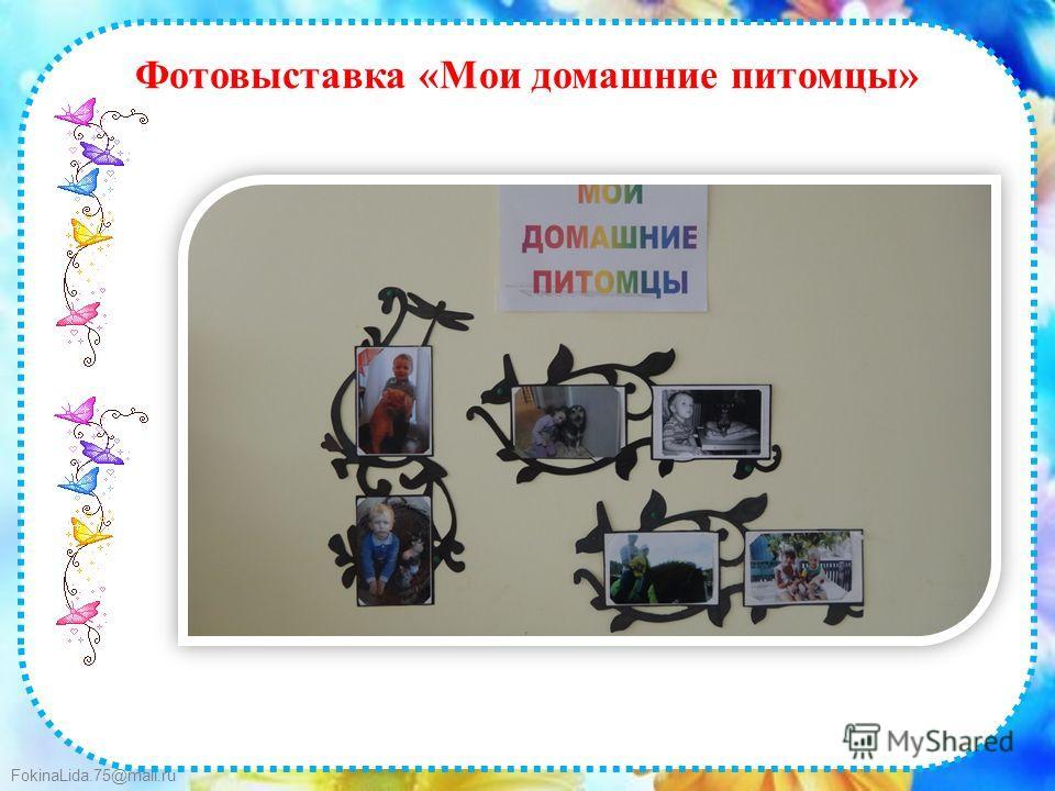 FokinaLida.75@mail.ru Фотовыставка «Мои домашние питомцы»