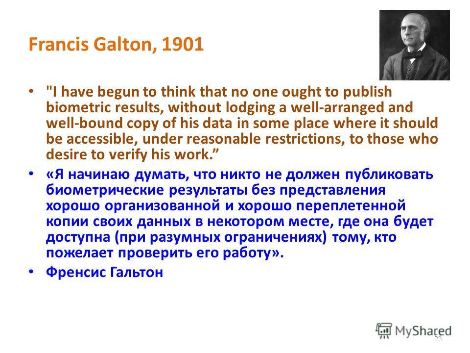 Francis Galton, 1901