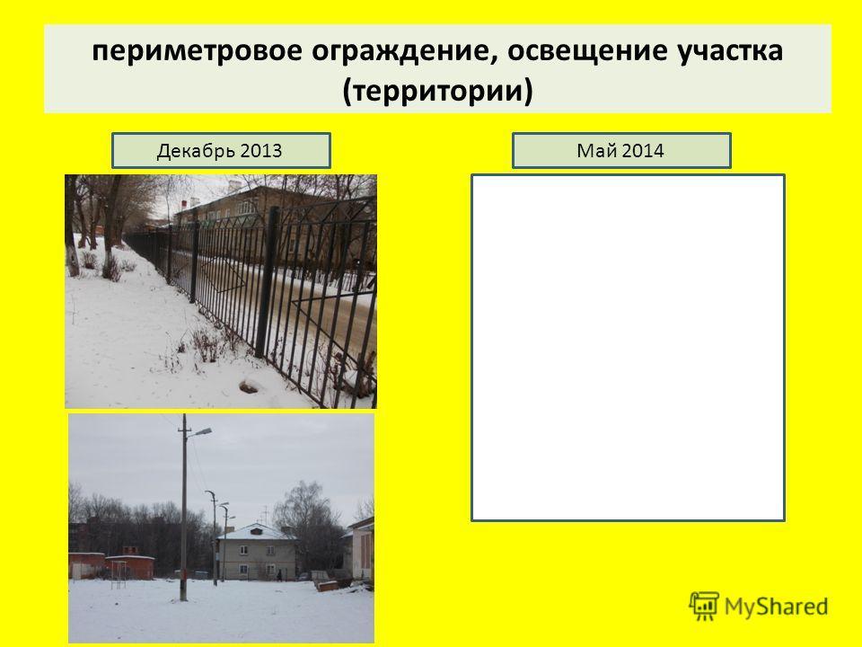 периметровое ограждение, освещение участка (территории) Декабрь 2013Май 2014
