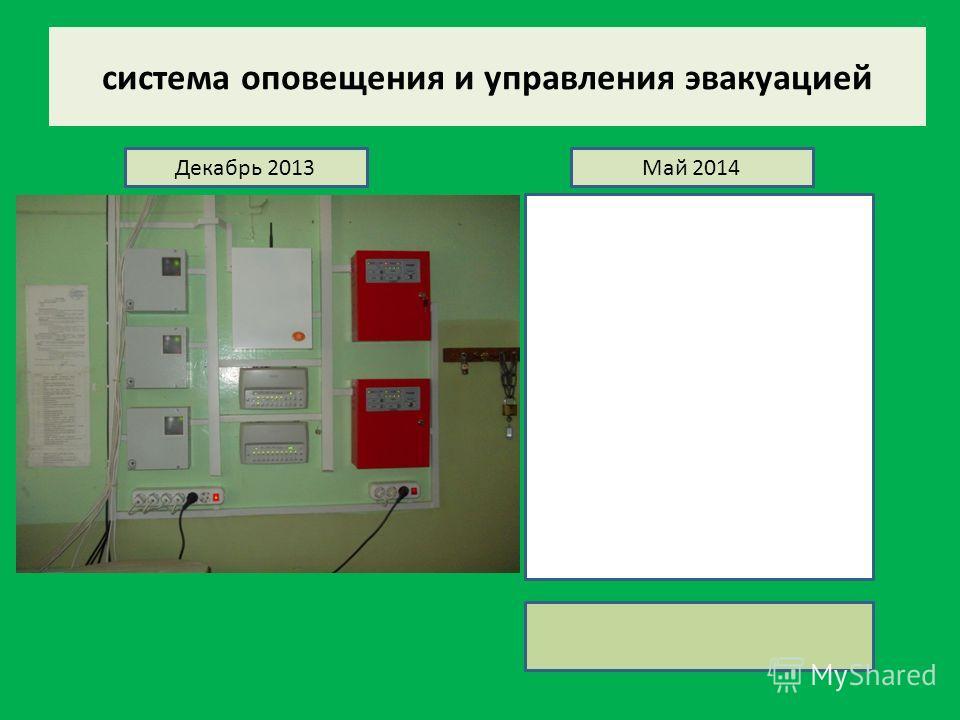 система оповещения и управления эвакуацией Декабрь 2013Май 2014