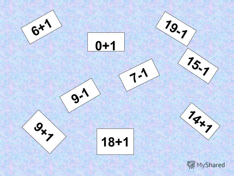 ВЫВОД: Чтобы к числу прибавить 1, можно назвать следующее за ним при счёте число. Чтобы из числа вычесть 1, можно назвать предыдущее при счёте число.
