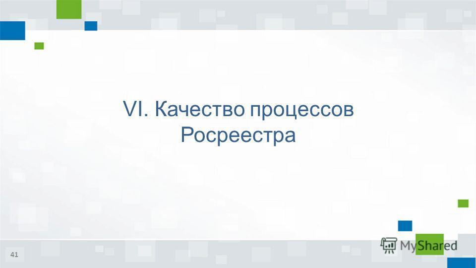 VI. Качество процессов Росреестра 41