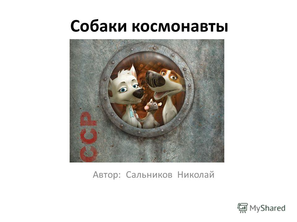 Собаки космонавты Автор: Сальников Николай