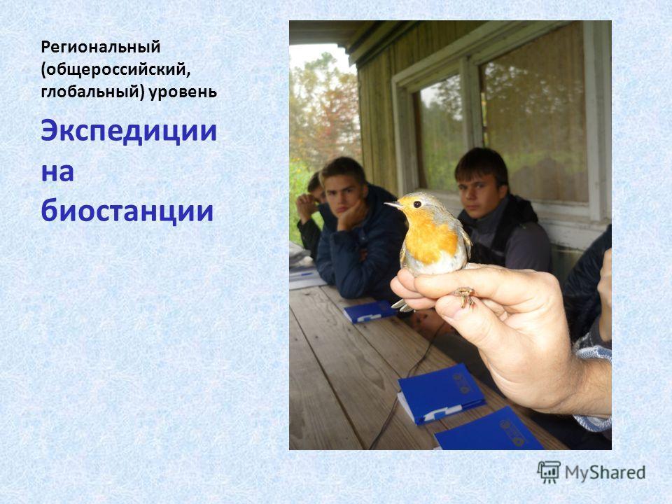 Региональный (общероссийский, глобальный) уровень Экспедиции на биостанции