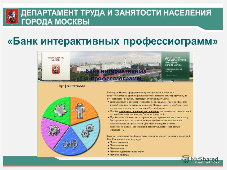 «Банк интерактивных профессиограмм»