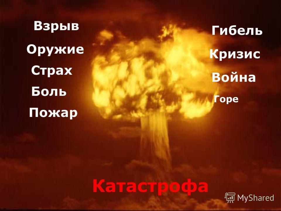 Катастрофа Взрыв Оружие Страх Боль Пожар Война Горе Гибель Кризис