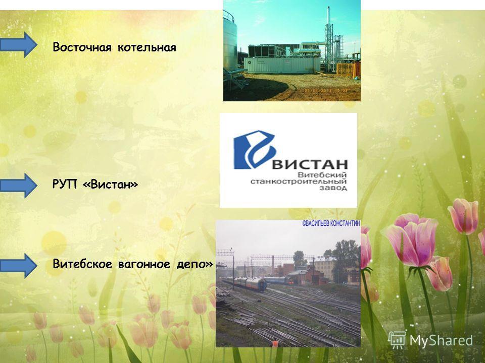 Восточная котельная РУП «Вистан» Витебское вагонное депо»