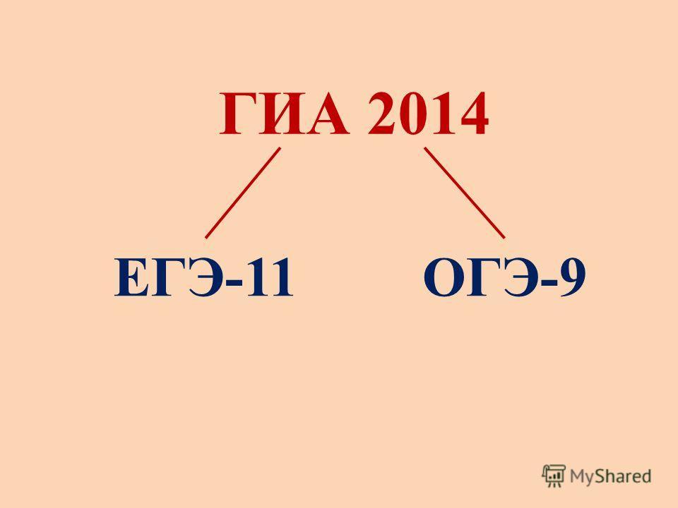 ГИА 2014 ЕГЭ-11ОГЭ-9
