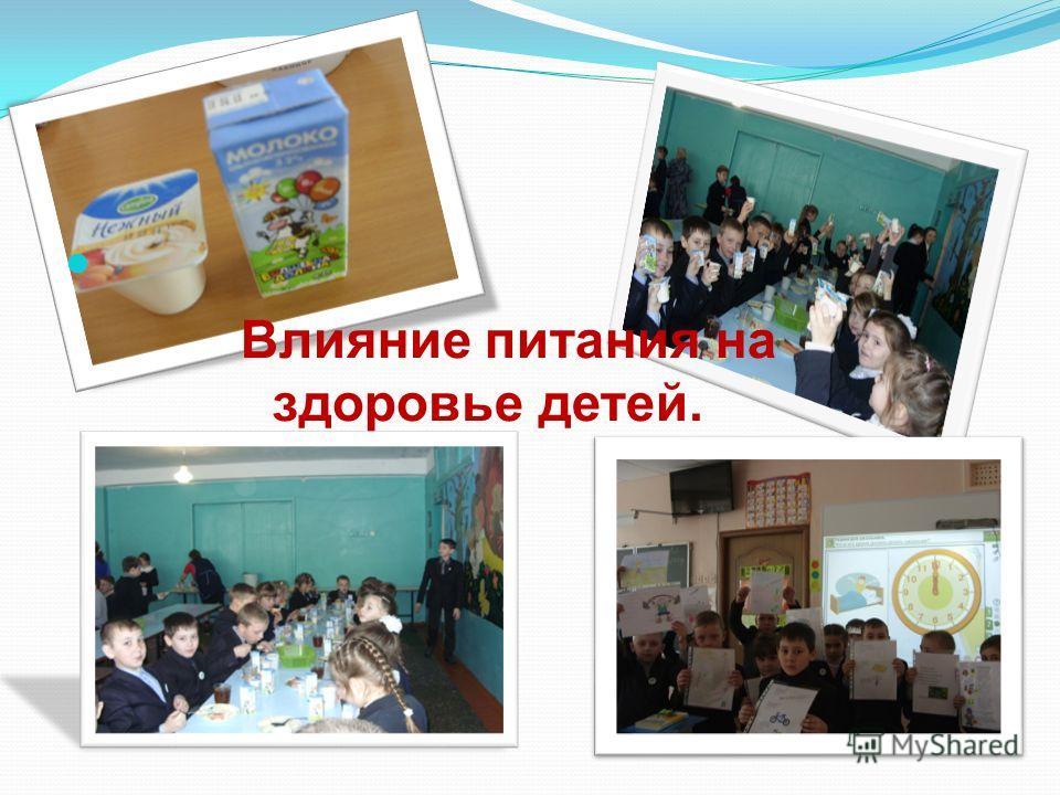 Влияние питания на здоровье детей.