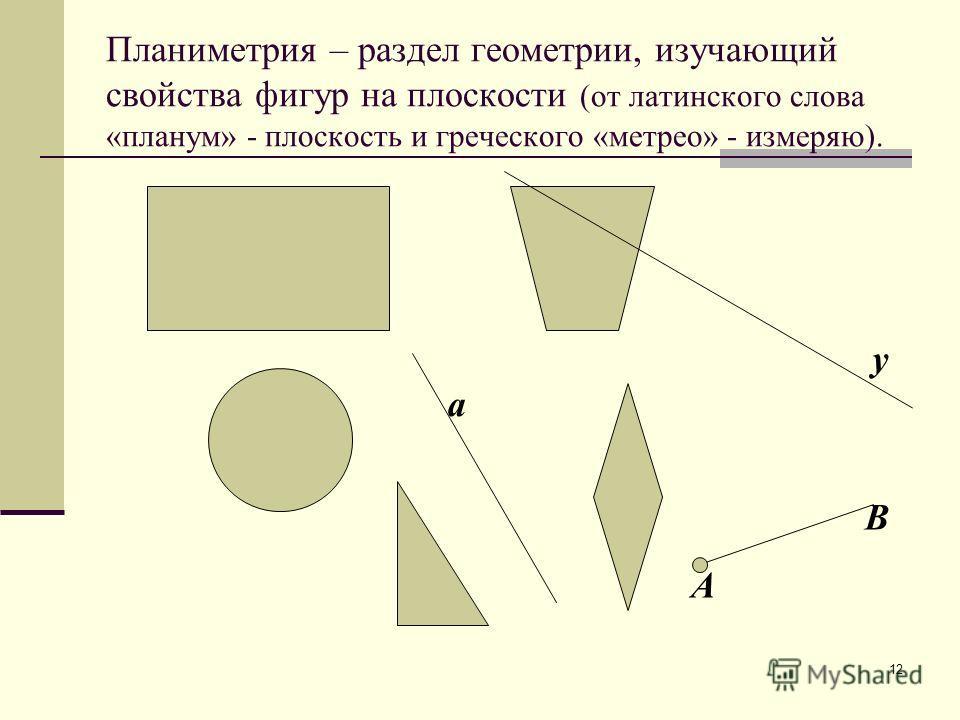 11 геометрия планиметриястереометрия