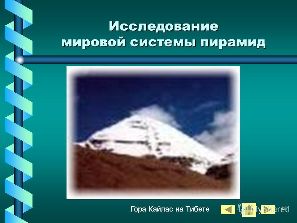 24 ЕГИПЕТСКИЕ ПИРАМИДЫ «В немой дали застыли пирамиды фараонов, саркофаги древней были. Величавые как вечность, молчаливые как смерть» Михай Эминеску Исследование мировой системы пирамид
