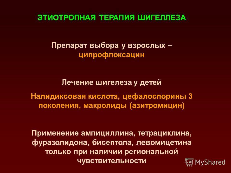 Резистентность циркулирующих в Республике Беларусь клинических изолятов шигелл