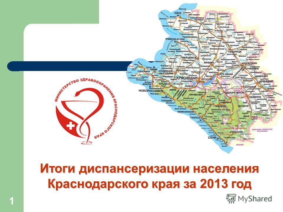 Итоги диспансеризации населения Краснодарского края за 2013 год 1