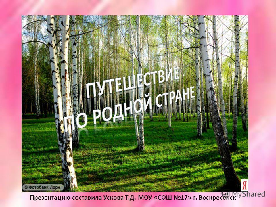 Презентацию составила Ускова Т.Д. МОУ «СОШ 17» г. Воскресенск