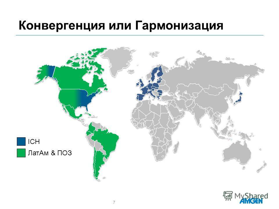 Конвергенция или Гармонизация 7 ICH ЛатАм & ПОЗ