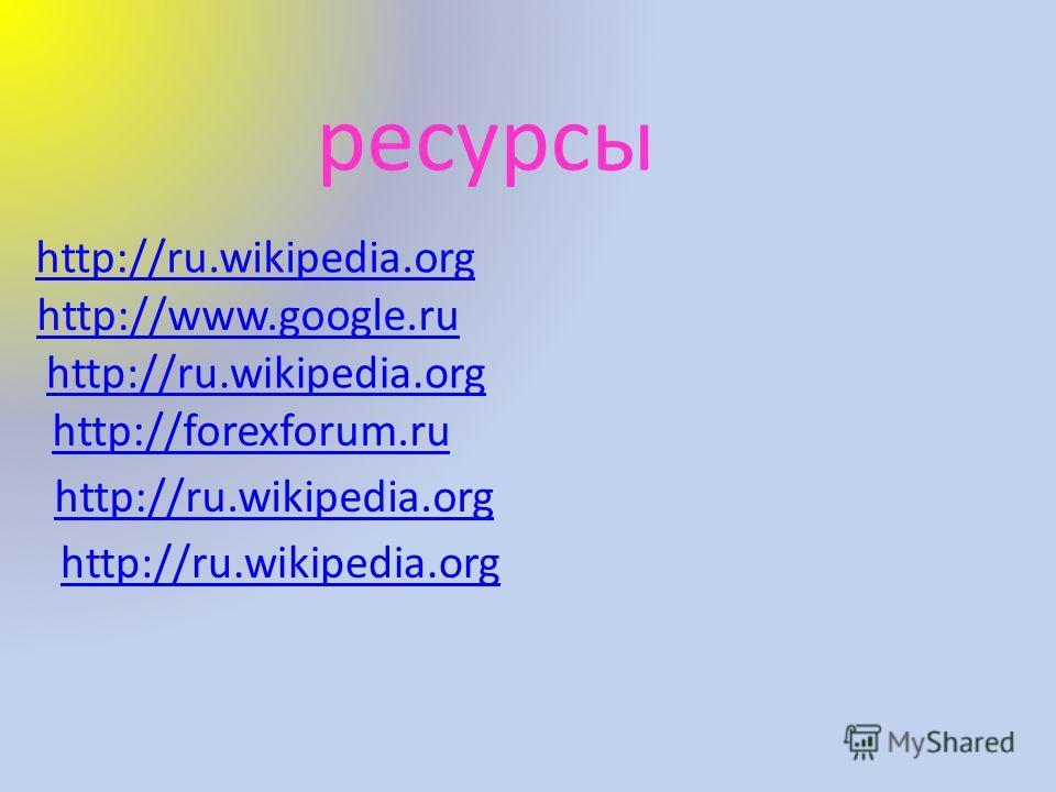http://forexforum.ru http://ru.wikipedia.org http://www.google.ru http://ru.wikipedia.org ресурсы http://ru.wikipedia.org