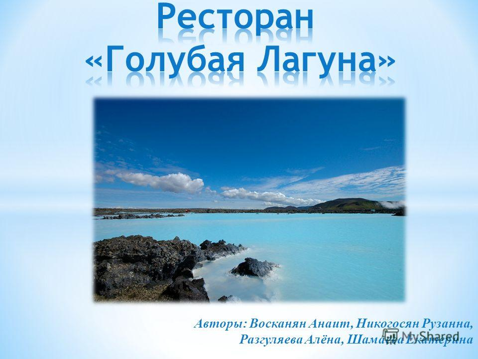 Авторы: Восканян Анаит, Никогосян Рузанна, Разгуляева Алёна, Шамаева Екатерина
