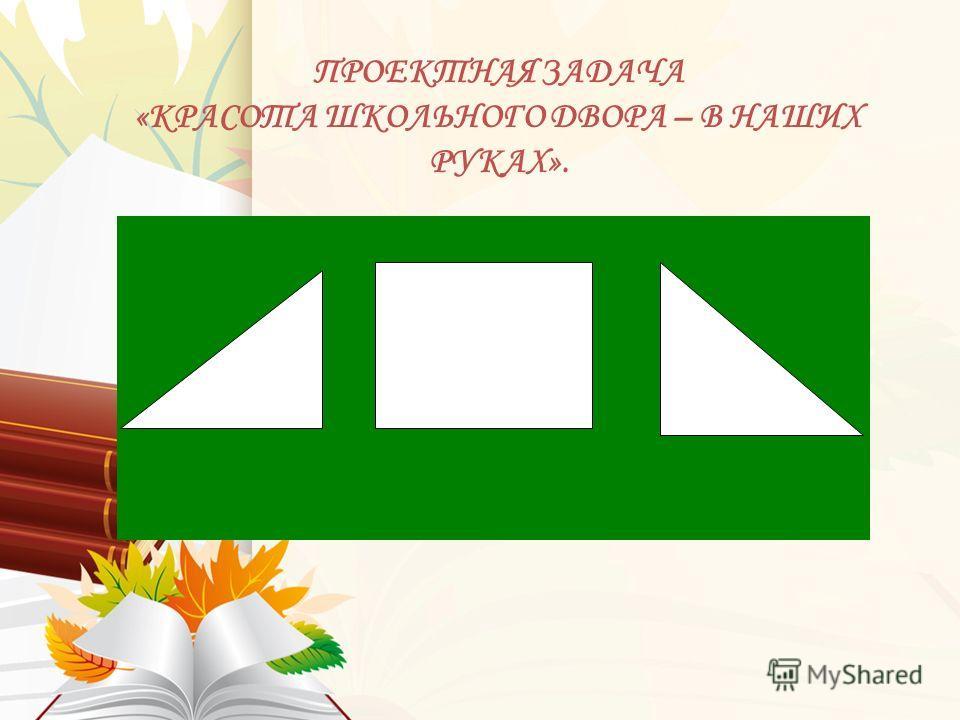 ПРОЕКТНАЯ ЗАДАЧА «КРАСОТА ШКОЛЬНОГО ДВОРА – В НАШИХ РУКАХ».