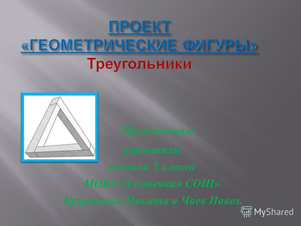 Презентацию выполнили ученики 5 класса МОБУ « Солнечная СОШ » Купрешкин Никита и Чаев Павел.